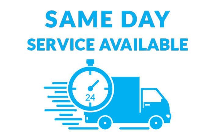 same day service available